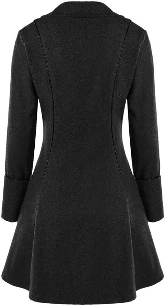 Runyue Damen Mittelalterliches Vintage Frack Jacke Gothic Unregelmäßig Steampunk Mantel Coat Uniform Kostüm Schwarz