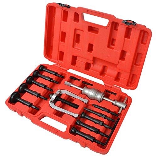 Xinglieu Set d'extraction pour roulements 16 pièces Facile à Utiliser, Transporter et fixez Accessoires pour véhicules boîte à Outils du véhicule