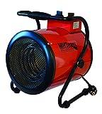 MHTEAM MHTEAM-EH4-03 Riscaldatore Elettrico 3000W Termostato, Rosso...