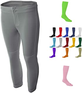 Combo Womens Grey Softball/Baseball Pants & Socks (15