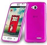 Cadorabo Custodia per LG L70 (1.SIM) in Hot Pink - Morbida Cover Protettiva Sottile di Silicone TPU con Bordo Protezione - Ultra Slim Case Antiurto Gel Back Bumper Guscio