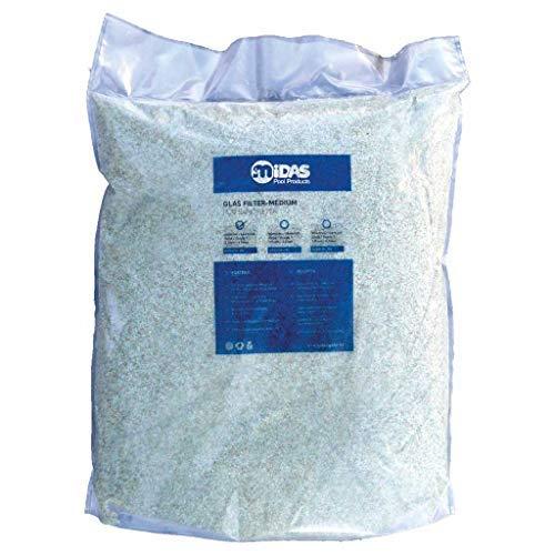 well2wellness Filterglas für Pool Filteranlagen Grad 2 Körnung 1,0-3,0 mm, 20 kg Sack