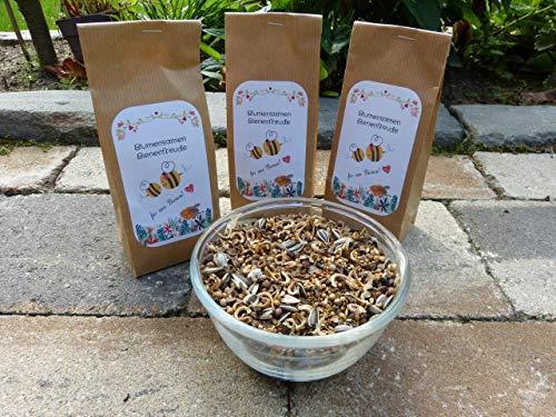Blumensamen Bienenfreude Bienenwiese Wildblumenmischung ohne Gräser Saatgut Insekten Bienen bunte Blumenwiese Samen 100-500 m² zur Auswahl ein- und mehrjährig (für 100qm)