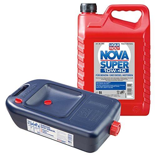 LIQUI MOLY Nova Super Motoröl 10W-40 5L 7351 + Ölwechsel Kanister 7055