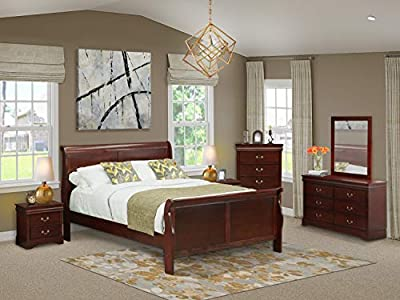 East West Furniture LP03-Q2NDMC Bedroom Sets, Queen