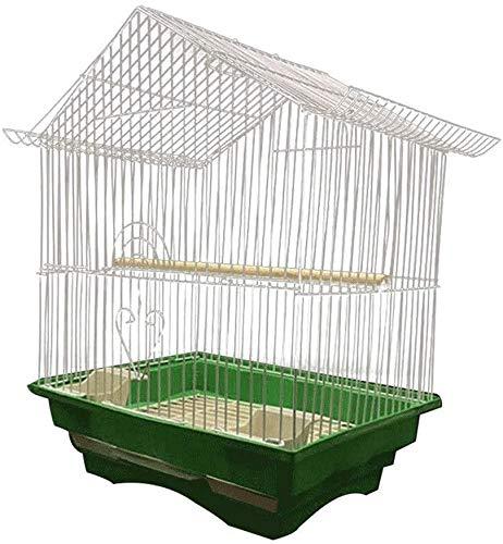 HLZY Jaula de pájaros de Parrot de Vuelo Grande para De Vuelo Jaula Aves Life Life Bird Cage Económica Cultura Pájaro Jaula Avanzada para Parrot Escalón Spartro Hundido (Color : White)