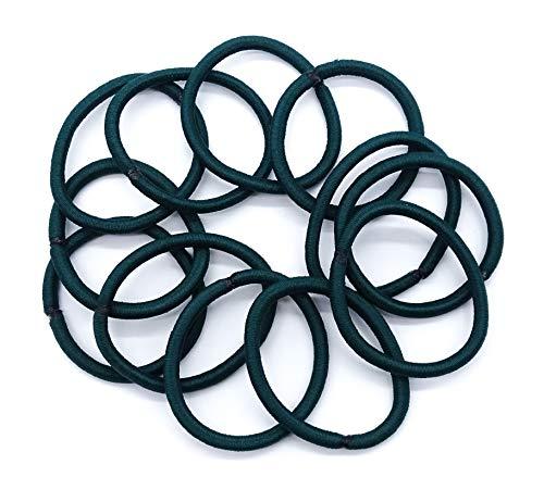 Lot de 2 paquets de 6 élastiques pour cheveux Vert émeraude