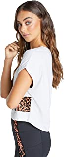 Rockwear Activewear Women's Just Peachy Printed Crop Tee from Size 4-18 for T-Shirt Tops