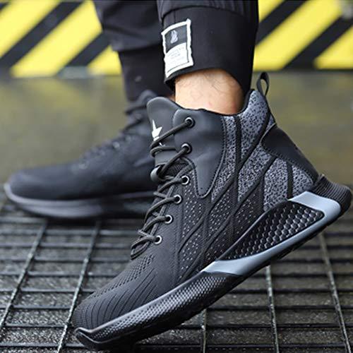 Zapatos de seguridad Zapatos de los hombres de peso ligero de seguridad / zapatos de los cargadores cómodos - toe con acero casquillo y Kevlar media suela de las botas del tobillo transpirable, acolch