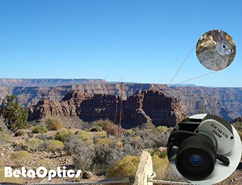 BetaOptics 144X Military Zoom Binoculars, black