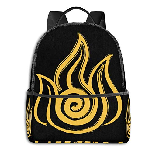 XCNGG Anime Fire Nation Classic Student School Bag School Cycling Leisure Travel Camping Outdoor Backpack