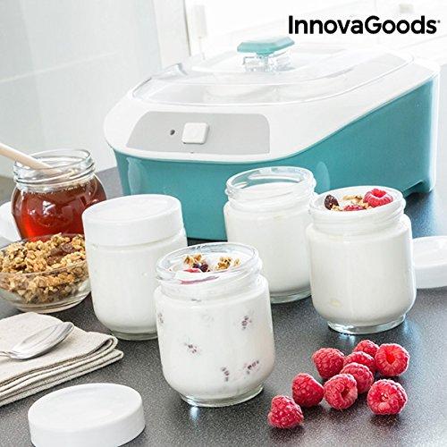 Yogurtera Vintage con 6 Tarros 1 L 20W Blanco Turquesa