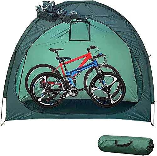 WXking Tente à vélos Boîte à vélo Abri avec conception de fenêtre, couverture de vélo imperméable de grande taille Hang de rangement pour bicyclettes de jardin, outils de réparation, outils de jardina