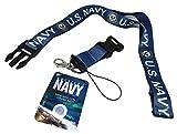 AES 32' U.S. USN Navy Emblem Logo Blue Lanyard with Detachable Key Ring