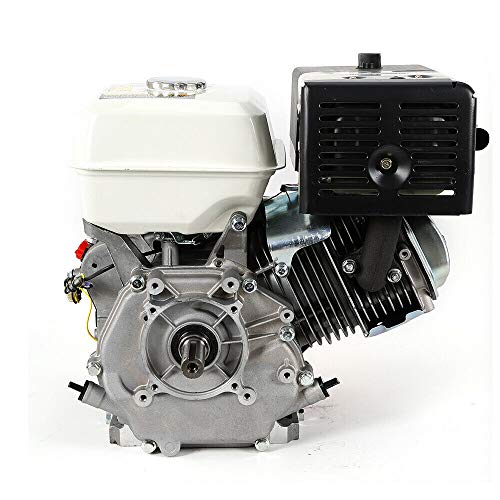 420CC 15HP 4Stroke OHV Gas Engine Go Kart Replacement Engine Forced Air Cooling CA/NJ SHIP (Black)