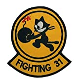Navy Fighting 31 Squadron Felix The Cat Bomb Military Hook Loop Tactics Morale Embroidered Patch