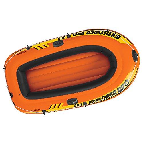 Bateau gonflable Explorer Pro, 196 cm x 102 cm : avec ou sans pompe et rames, 58357EP, Orange, With Oars and Pump