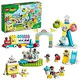 LEGO DUPLO Town Parco dei Divertimenti, Giocattoli per Bambini di 2 Anni, Parco Giochi con 7 Minifigure e Accessori, 10956