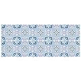 Aramox 30 Unids/Set Impermeable Antideslizante Azulejo de Cerámica Etiqueta de La Pared Cocina Baño Decoración 10x10cm, Impermeable Baño Inicio Etiqueta de Pared Antideslizante