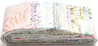 Bali Batiks Taffy Bali Poppy 20 2.5-inch Strips Jelly Roll Hoffman Fabrics BPP-491-TAFFY