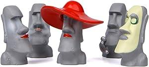 Garneck Resina Gigante de Pascua Estatua de Labios Rosados ??Toscano Miniatura coloso estatuilla Micro Paisaje jardín Escultura muñeca Juguete para Pascua Fiesta Regalo favores