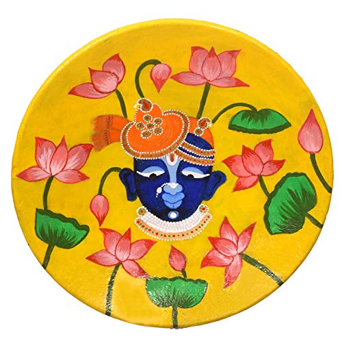 Shrinathji Wall Plate Handpainted Design - Arjav&Ahaan
