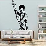 Pegatina De Pared Calcomanía Mural Clásico Kung Fu Bruce Lee Vinilo Pegatina Habitación De Los Niños Diy Decoración De La Casa Pegatina De Pared Papel Tapiz 32X57Cm