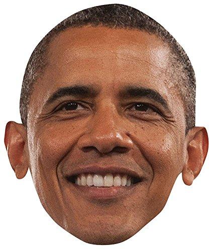 Celebrity Cutouts Barack Obama Maske aus Karton