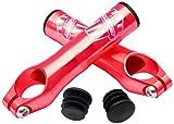 MSC Bikes Alu7075 T6 MSC Ultralight - Acoples de Manillar de Ciclismo, Color Rojo anodizado