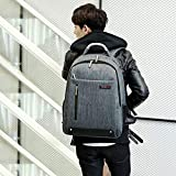 Simple and Fashionable 17 Inch Computer Bag Students' Leisure Backpack 可装14寸-15寸 商务版魅影灰色