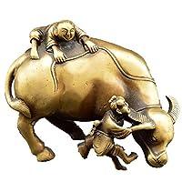 彫刻像アンティーク純銅干支牛家の装飾ギフト装飾品