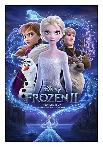 Frozen II Movie Poster Glossy High Quality Print Photo Wall Art Kristen Bell, Idina Menzel, Josh Gad Size 27x40#1