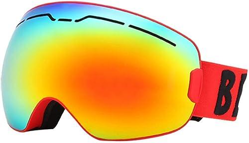 Masques De Ski Lunettes De Sport Verres Masques De Ski Double Chaleur Amortissante Anti-Buée - JBP21