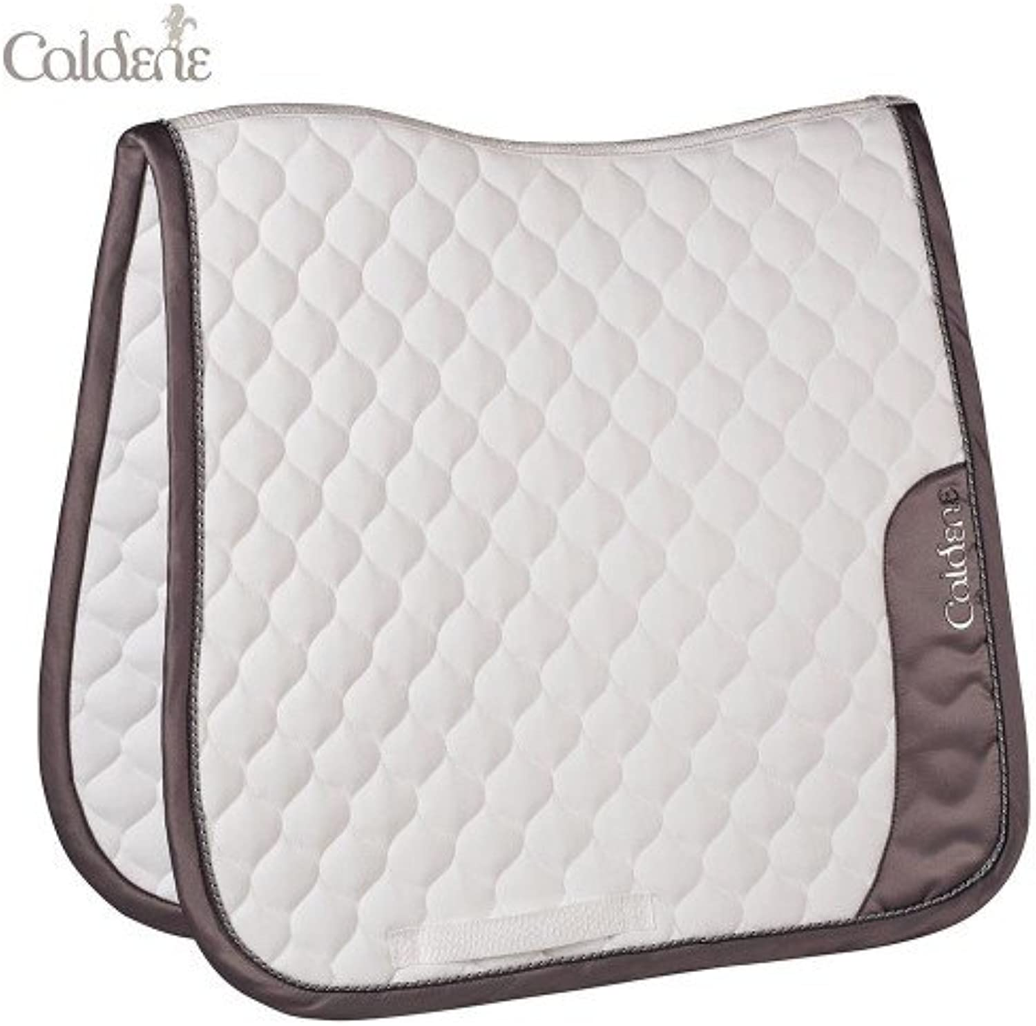 Caldene Horse Saddlepad Metallic Dressage White Cob
