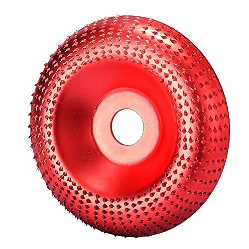 Mole Abrasive per Smerigliatrice Angolare,MZSM Tungsteno Rotante Carving Disco Legno Abrasivo, Mola Utensili per Lucidatura,100MM