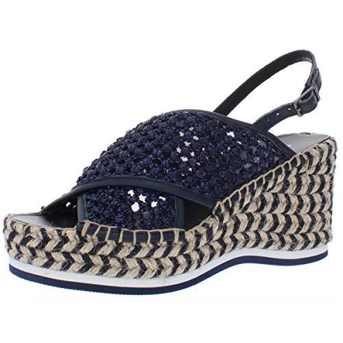 Donald J Pliner Womens Lotti Peep Toe Casual Slingback Sandals, Black, Size 9.5