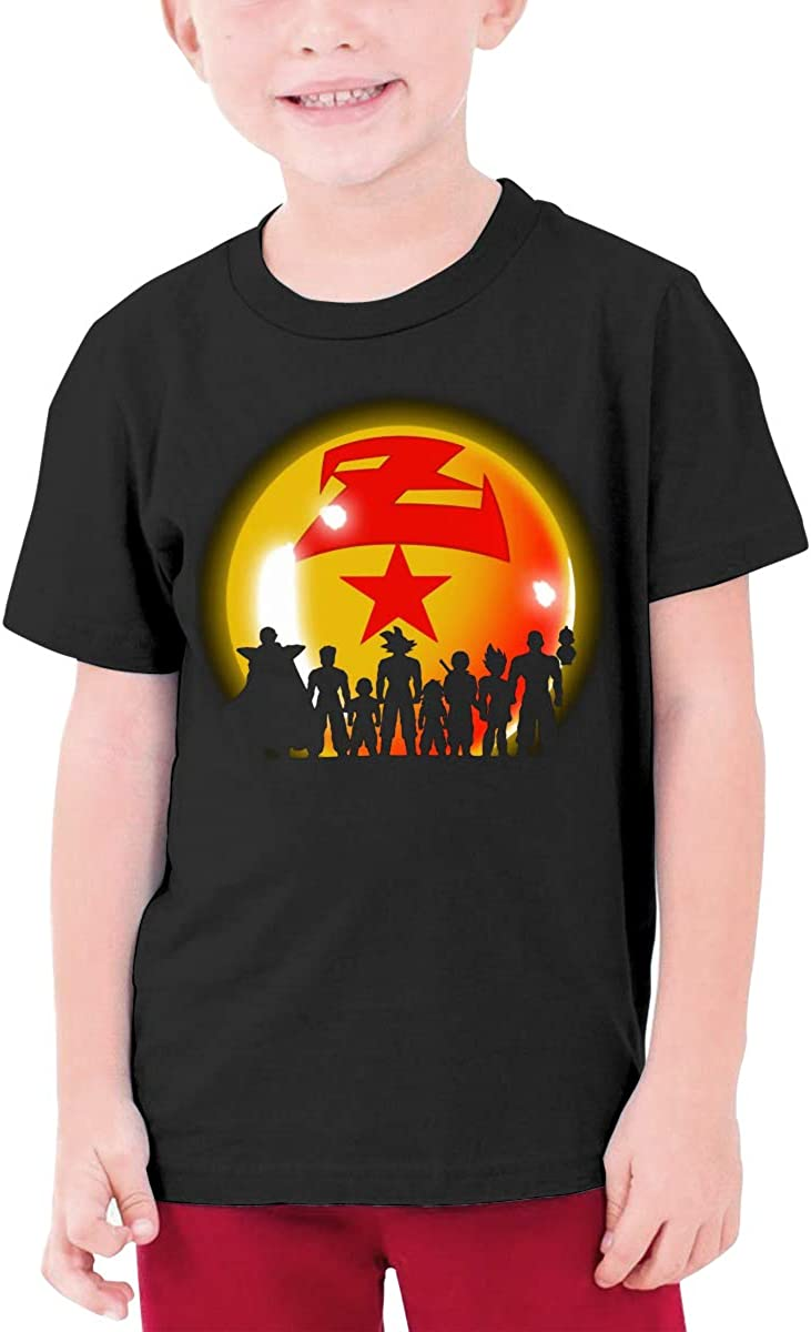 Others Super Saiyan Character Z Star Boy Girl Sports Short Sleeve Tee Teenager Unisex T-Shirt Black