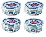 Schloss & LOCK 100 ml Extra kleiner runder Vorratsbehälter, 4 Stück