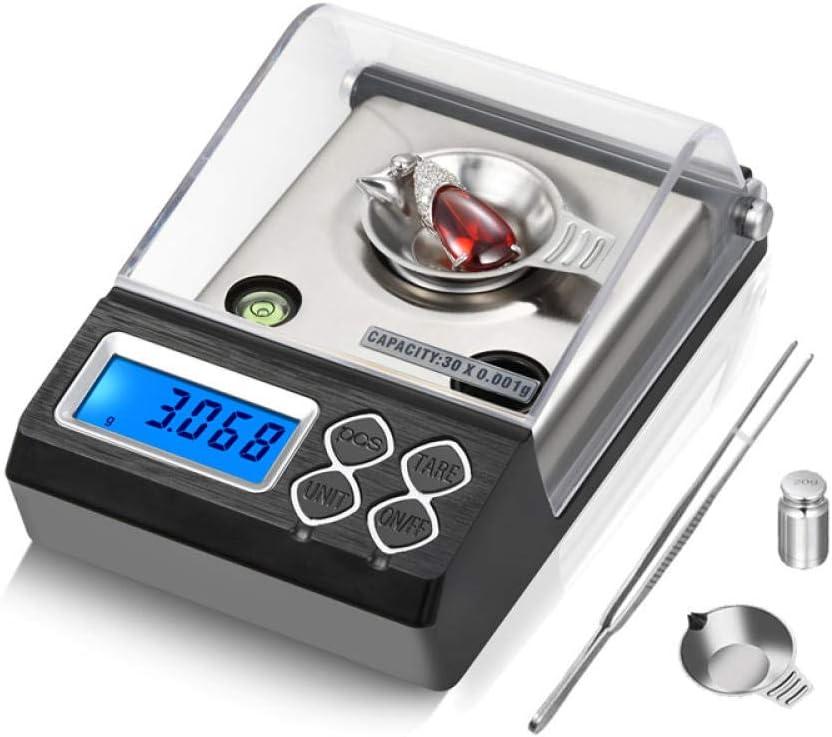 Alta precisión 0 001g Escala digital de miligramos Laboratorio Oro Hierba Equilibrio Contador Escala de quilates Básculas electrónicas de joyería Uso medicinal