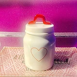 rae dunn heart canister