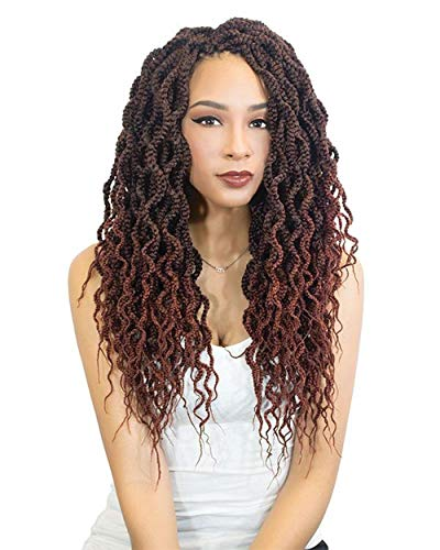 Curly Box Braid Crochet 12 Inch