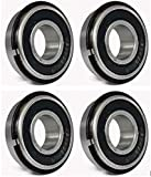 """Ultra Smooth Go Kart Snap Ring Wheel Bearings, 5/8"""" ID x 1 3/8"""" OD (Pack of 4)"""