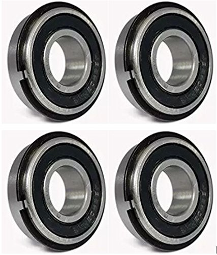 Ultra Smooth Go Kart Snap Ring Wheel Bearings, 5/8' ID x 1 3/8' OD (Pack of 4)