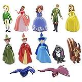 Princesa cake topper mini juego de figuras niños sofia mini juguetes baby shower fiesta de cumpleaños pastel decoración suministros 12pcs