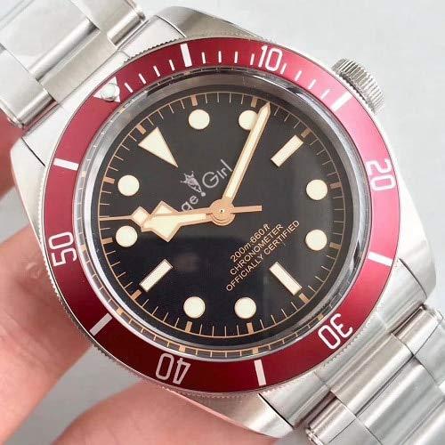 LESHARED Mannen Automatische Mechanische Horloge Zwart Baai Rood Blauw Keramische Bezel RVS Saffier Glas Waterdicht AAA+