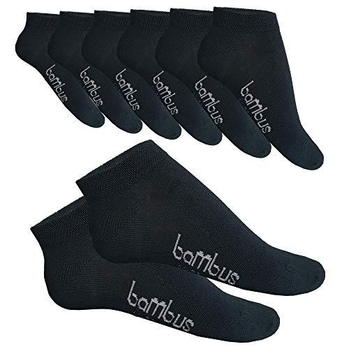 SGS 5-10 Bambus Socke Sneaker Herren Damen Bambussocken (43-46, 10 X Anthrazit)