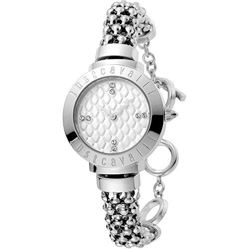 Just Cavalli Damen Analog Quarz Uhr mit Edelstahl Armband JC1L048M0015