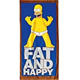 Badetuch Homer Simpson FAT AND HAPPY