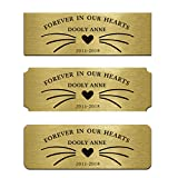 Engraved Memorial Name Tag Flag Case Shadow Boxes Pets Name 3'W x 1'H