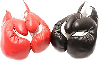 TMS 2 Pair Red and Black Corner 8oz Youth Boxing Gloves Set